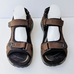 Aboe Water  Davenport Brown Leather Sandals